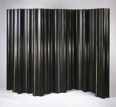 Charles Eames (American, 1907-1978). FSW (Folding Screen Wall), Designed 1946; Manufactured 1946-1955. Laminated plywood, canvas, 67 9/16 x 101 3/4 x 3 1/16 in.  (171.6 x 258.4 x 7.8 cm). Brooklyn Museum, H. Randolph Lever Fund, 2000.75. Creative Commons-BY