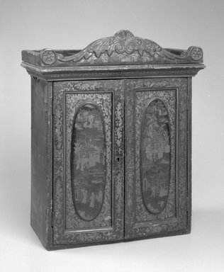Chinese. Cabinet, ca. 1825. Lacquered wood, 20 1/4 x 16 1/2 x 9 in.  (51.4 x 41.9 x 22.9 cm). Brooklyn Museum, Gift of Virginia Manbeck, 2000.7. Creative Commons-BY