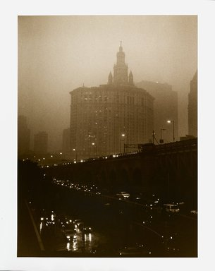 Barbara Mensch (American, born 1950). View from My Window #2, 1999. Selenium-toned gelatin silver photograph, 19 7/8 x 15 7/8 in. (50.5 x 40.3 cm). Brooklyn Museum, Gift of the artist, 2000.88. © Barbara Mensch
