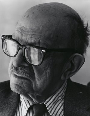 Arthur Mones (American, 1919-1998). Roger Sessions, 1982. Gelatin silver photograph, image:  13 1/2 x 10 1/2 in.  (34.3 x 26.7 cm);. Brooklyn Museum, Gift of Wayne and Stephanie Mones at the request of their father, Arthur Mones, 2000.89.10. © Estate of Arthur Mones