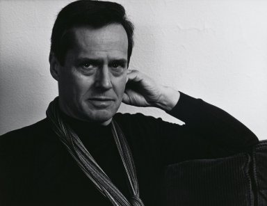 Arthur Mones (American, 1919-1998). Ned Rorem, 1983. Gelatin silver photograph, image:  10 1/2 x 13 1/2 in.  (26.7 x 34.3 cm);. Brooklyn Museum, Gift of Wayne and Stephanie Mones at the request of their father, Arthur Mones, 2000.89.11. © Estate of Arthur Mones