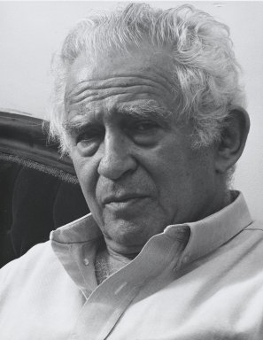 Arthur Mones (American, 1919-1998). Norman Mailer, 1992. Gelatin silver photograph, image:  13 1/2 x 10 1/2 in.  (34.3 x 26.7 cm);. Brooklyn Museum, Gift of Wayne and Stephanie Mones at the request of their father, Arthur Mones, 2000.89.14. © Estate of Arthur Mones