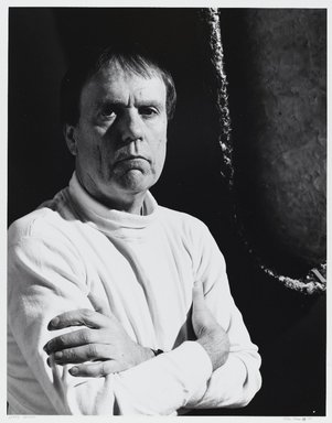 Arthur Mones (American, 1919-1998). Gerry Griffin, 1988. Gelatin silver photograph, image:  10 1/2 x 13 1/2 in.  (26.7 x 34.3 cm);. Brooklyn Museum, Gift of Wayne and Stephanie Mones at the request of their father, Arthur Mones, 2000.89.37. © Estate of Arthur Mones