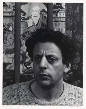 Arthur Mones (American, 1919-1998). Philip Glass, 1983. Gelatin silver photograph, image:  13 1/2 x 10 1/2 in.  (34.3 x 26.7 cm);. Brooklyn Museum, Gift of Wayne and Stephanie Mones at the request of their father, Arthur Mones, 2000.89.39. © Estate of Arthur Mones