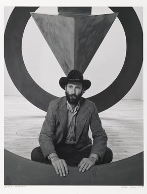 Arthur Mones (American, 1919-1998). Bruce Nauman, 1980. Gelatin silver photograph, image:  13 1/2 x 10 1/2 in.  (34.3 x 26.7 cm);. Brooklyn Museum, Gift of Wayne and Stephanie Mones at the request of their father, Arthur Mones, 2000.89.53. © Estate of Arthur Mones
