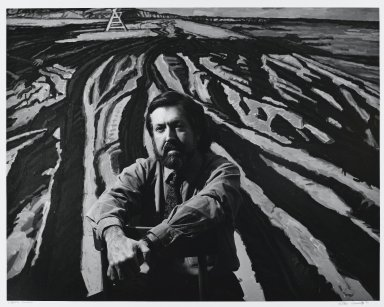 Arthur Mones (American, 1919-1998). Graham Nickson, 1983. Gelatin silver photograph, image:  10 1/2 x 13 1/2 in.  (26.7 x 34.3 cm);. Brooklyn Museum, Gift of Wayne and Stephanie Mones at the request of their father, Arthur Mones, 2000.89.56. © Estate of Arthur Mones