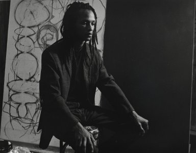 Arthur Mones (American, 1919-1998). Victor Mathews, 1990. Gelatin silver photograph, image:  10 1/2 x 13 1/2 in.  (26.7 x 34.3 cm);. Brooklyn Museum, Gift of Wayne and Stephanie Mones at the request of their father, Arthur Mones, 2000.89.61. © Estate of Arthur Mones