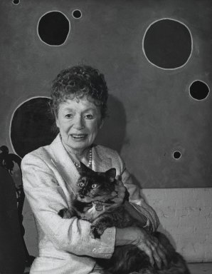 Arthur Mones (American, 1919-1998). Buffie Johnson, 1992. Gelatin silver photograph, image:  13 1/2 x 10 1/2 in.  (34.3 x 26.7 cm);. Brooklyn Museum, Gift of Wayne and Stephanie Mones at the request of their father, Arthur Mones, 2000.89.66. © Estate of Arthur Mones