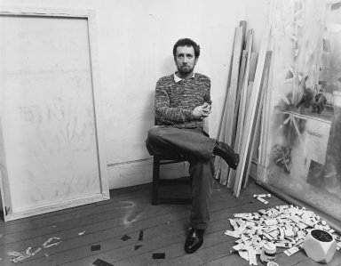 Arthur Mones (American, 1919-1998). John Perrault, 1981. Gelatin silver photograph, image:  10 1/2 x 13 1/2 in.  (26.7 x 34.3 cm);. Brooklyn Museum, Gift of Wayne and Stephanie Mones at the request of their father, Arthur Mones, 2000.89.7. © Estate of Arthur Mones