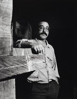 Arthur Mones (American, 1919-1998). John Crawford, 1988. Gelatin silver photograph, image:  13 1/2 x 10 1/2 in.  (34.3 x 26.7 cm);. Brooklyn Museum, Gift of Wayne and Stephanie Mones at the request of their father, Arthur Mones, 2000.89.92. © Estate of Arthur Mones