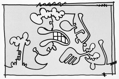 Carroll Dunham (American, born 1949). [Untitled], 2000. Lithograph, 17 3/16 x 13 6/16 in.  (43.7 x 34.0 cm). Brooklyn Museum, Emily Winthrop Miles Fund, 2001.1.10. © Carroll Dunham