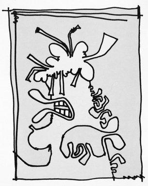 Carroll Dunham (American, born 1949). [Untitled], 2000. Lithograph, 17 3/16 x 13 6/16 in.  (43.7 x 34.0 cm). Brooklyn Museum, Emily Winthrop Miles Fund, 2001.1.1. © Carroll Dunham