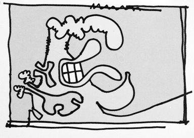 Carroll Dunham (American, born 1949). [Untitled], 2000. Lithograph, 17 3/16 x 13 6/16 in.  (43.7 x 34.0 cm). Brooklyn Museum, Emily Winthrop Miles Fund, 2001.1.5. © Carroll Dunham
