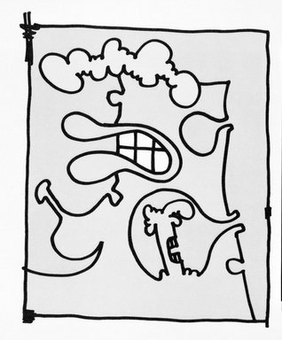 Carroll Dunham (American, born 1949). [Untitled], 2000. Lithograph, 17 3/16 x 13 6/16 in.  (43.7 x 34.0 cm). Brooklyn Museum, Emily Winthrop Miles Fund, 2001.1.9. © Carroll Dunham