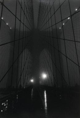 Lynn Saville (American, born 1950). Brooklyn Bridge Fog, 1989. Gelatin silver photograph, 18 x 12 1/4 in. (45.7 x 31.1 cm). Brooklyn Museum, Gift of Margaret Neill, 2001.45. © Lynn Saville
