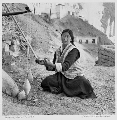 Larry Snider. Weaver Ladakh, 1998. Gelatin silver photograph, 9 13/16 x 9 15/16 in.  (24.9 x 25.2 cm). Brooklyn Museum, Gift of the artist, 2001.78.2. © Larry Snider