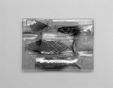 Michael Higgins (American, born England, 1908-1999). Ashtray, ca. 1955. Glass, 3/4 x 7 x 5 in. (1.9 x 17.8 x 12.7 cm). Brooklyn Museum, H. Randolph Lever Fund, 2002.104.1. Creative Commons-BY
