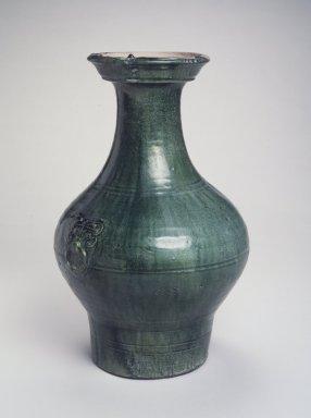 Vessel (Hu), 206 B.C.E.-220 C.E. Glazed earthenware, Height: 16 1/2 in. (41.9 cm). Brooklyn Museum, Gift of Dr. Alvin E. Friedman-Kien, 2002.119.6