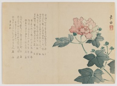 Chôsui Yabu (Japanese, active 1830-1864). Peony Branch, Autumn 1861. Woodblock print; horizontal Chûban yoko-e format, 7 1/8 x 9 3/4 in. (18.1 x 24.8 cm). Brooklyn Museum, Gift of Dr. Eleanor Z. Wallace in memory of her husband, Dr. Stanley L. Wallace, 2002.121.37