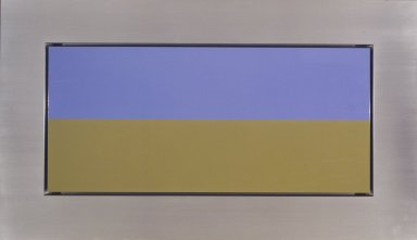 Christian Eckart (American and Canadian, born Canada, 1959). New O.D. Painting #1703, 1992. Acrylic urethane on aluminum, 78 x 45 x 12 in. (198.1 x 114.3 x 30.5 cm). Brooklyn Museum, Gift of Richard Rubin Seed Fund L.P., 2002.122. © Christian Eckart