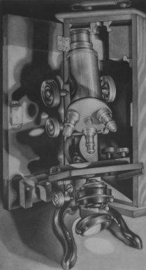Carol Wax (American, born 1953). Grandpa's Microscope. Mezzotint, Image (Sight): 15 9/16 x 8 9/16 in. (39.5 x 21.7 cm). Brooklyn Museum, Gift of Dr. and Mrs. Julian Hyman, 2002.124. © Carol Wax