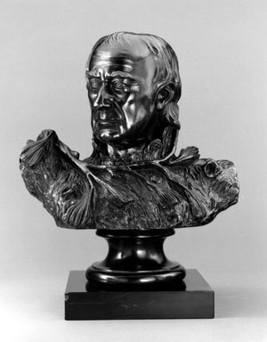 William Rush (American, 1756-1833). Self Portrait (The Pine Knot Portrait), 1822; cast 1971. Bronze, stone base