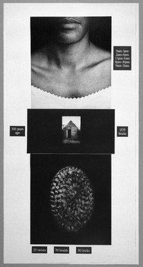 Lorna Simpson (American, born 1960). Counting, 1991. Photogravure and silkscreen, 73 1/4 x 37 1/2 in. (186.1 x 95.3 cm). Brooklyn Museum, Gift of Ellen and Daniel Shapiro, 2002.58. © Lorna Simpson