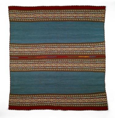 Sabina Choque Kjuiro (Quechua, Peruvian). Woman's Shawl (Lliqlla), 2002. Sheep wool, natural and synthetic(?) dyes, 40 1/2 x 44 1/2 in. (102.9 x 113 cm). Brooklyn Museum, Frank Sherman Benson Fund, 2002.62.9. Creative Commons-BY