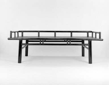 Daybed, 18th century. Soft wood with caning and lacquer, 25 x 75 3/4 x 37 1/2 in. (63.5 x 192.4 x 95.3 cm). Brooklyn Museum, Gift of Dr. Alvin E. Friedman-Kien, 2002.94. Creative Commons-BY