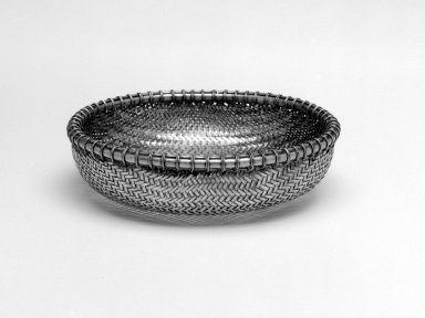 Basket, 1966. Woven silver, 1 3/4 x 6 1/8 in. (4.4 x 15.6 cm). Brooklyn Museum, Gift of Mrs. Harrison Salisbury, 2002.97.1. Creative Commons-BY