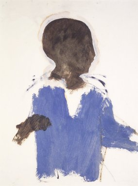 """Lennart Anderson (American, born 1928). Study of a Boy for """"Accident,"""" ca. 1955. Oil on paper, 11 3/4 x 8 15/16 in. (29.8 x 22.7 cm). Brooklyn Museum, Gift of Sarah-Ann and Werner H. Kramarsky, 2002.99. © Lennart Anderson"""
