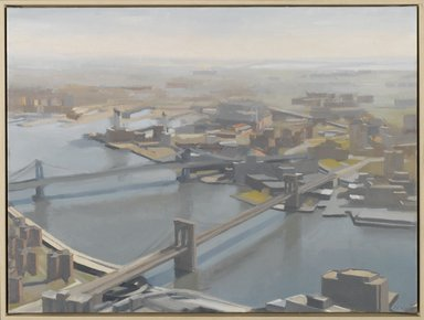 Diana Horowitz (American, born 1958). East River and Bridges, 2001. Oil on canvas, 15 x 20 in. (38.1 x 50.8 cm). Brooklyn Museum, Anonymous gift, 2002.9. © Diana Horowitz
