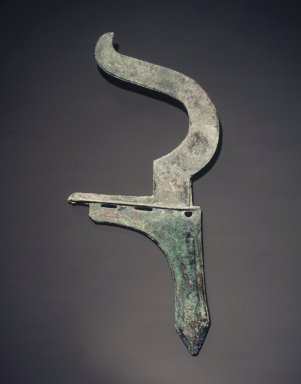 Dagger Axe with Curved Finial, 475-221 B.C.E. Bronze, 12 3/8 x 5 1/2in. (31.4 x 14cm). Brooklyn Museum, Anonymous gift, 2003.3.3. Creative Commons-BY