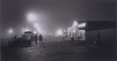 Helen K. Garber (American, born 1954). Santa Monica Pier Fog No. 1, 2002; printed 2003. Selenium-toned gelatin silver photograph, Sheet: 16 x 20 in. (40.6 x 50.8 cm). Brooklyn Museum, Gift of Susan Pikitch and Michael Giobbe in memory of Estelle Giobbe, 2003.43. © Helen K. Garber