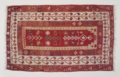 Kilim, early 20th century. Wool, tapestry technique, Old Dims: 36 1/2 x 59 15/16 in. (92.7 x 152.2 cm). Brooklyn Museum, Gift of Dr. Bertram H. Schaffner, 2003.53. Creative Commons-BY
