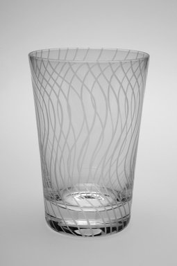 Sol LeWitt (American, 1928-2007). Drinking Glass, One of a Set of Four, 2002. Glass, 5 x 3 3/8 x 3 3/8 in. (12.7 x 8.6 x 8.6 cm). Brooklyn Museum, H. Randolph Lever Fund, 2003.56.1. Creative Commons-BY