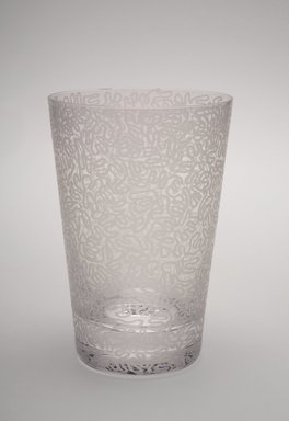 Sol LeWitt (American, 1928-2007). Drinking Glass, One of a Set of Four, 2002. Glass, 5 x 3 3/8 x 3 3/8 in. (12.7 x 8.6 x 8.6 cm). Brooklyn Museum, H. Randolph Lever Fund, 2003.56.3. Creative Commons-BY