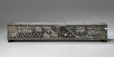 Manuscript Box, Second half of 19th century. Wood, mother-of-pearl, lacquer, 4 3/4 x 26 x 5 in. (12 x 66 x 12.7 cm). Brooklyn Museum, Gift of the Doris Duke Foundation, 2003.64.7. Creative Commons-BY