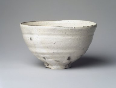 Tsujimura Shiro (Japanese, born 1947). Tea Bowl, 2001. Glazed stoneware, Korean Kohiki style, 3 1/8 x 5 3/4 in. (7.9 x 14.6 cm). Brooklyn Museum, Gift of Koichi Yanagi, 2003.67.5. Creative Commons-BY