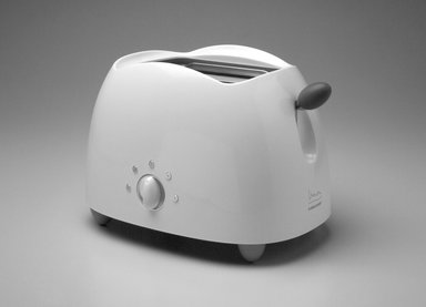 "Michael Graves (American, 1934-2015). ""Pop Art"" Toaster, Designed 1999. ABS plastic, santoprene, metal, 8 5/8 x 12 1/2 x 8 7/8 in. (21.9 x 31.8 x 22.5 cm). Brooklyn Museum, Gift of Michael Graves & Associates, 2003.72.2. Creative Commons-BY"