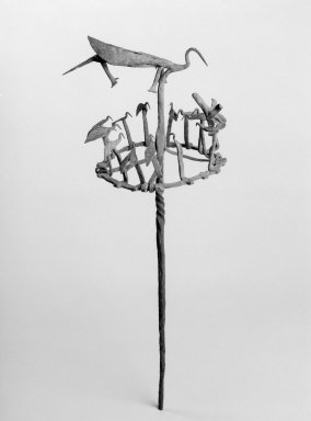 Yoruba. Opa Osanyin or Opa Erinle Staff, 19th century. Iron, 26 1/4 x 10 3/4 x 10 1/4 in. (66.7 x 27.3 x 26 cm). Brooklyn Museum, Gift of Drs. John I. and Nicole Dintenfass, 2003.79.1. Creative Commons-BY