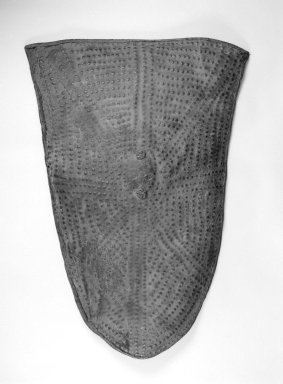 Mofu. Shield, late 19th century. Buffalo, elephant, or cow hide, 42 x 29 1/2 x 3 1/2 in. (106.7 x 74.9 x 8.9 cm). Brooklyn Museum, Gift of William C. Siegmann in memory of Edward Brown, 2003.80. Creative Commons-BY