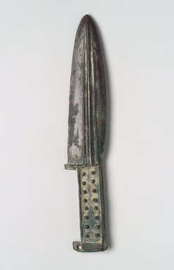 Dagger with Curved and Straight Edges, 6th-4th century B.C.E. Bronze, 9 5/16 x 1 7/8 x 5/16 in. (23.7 x 4.8 x 0.8 cm). Brooklyn Museum, Anonymous gift, 2003.82.3. Creative Commons-BY