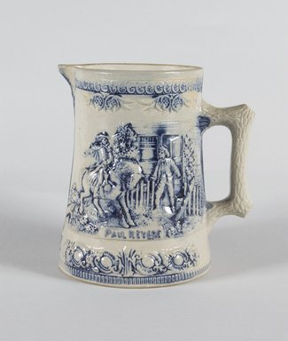 Attributed to Central New York Pottery or (1890-1898). Pitcher, 1890-1906. Glazed stoneware and pewter, 6 3/4 x 6 1/2 x 5 1/4 in. (17.1 x 16.5 x 13.3 cm). Brooklyn Museum, Gift of Dr. and Mrs. Arthur Goldberg, 2003.85.6. Creative Commons-BY