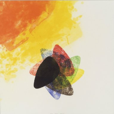 Richard Tuttle (American, born 1941). Label 1, 2002. Etching with aquatint, spit bite, sugarlift, drypoint and fabric colle, 16 x 16 in. (40.6 x 40.6 cm). Brooklyn Museum, Emily Winthrop Miles Fund, 2003.89.1. © Richard Tuttle, courtesy Pace Gallery
