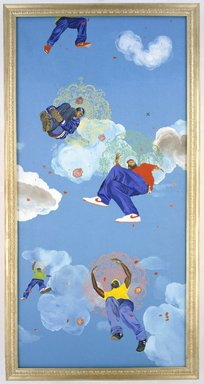 Kehinde Wiley (American, born 1977). Go, 2003. Oil on panel, Each panel: 48 x 120 x 2 1/2 in. (121.9 x 304.8 x 6.4 cm). Brooklyn Museum, Mary Smith Dorward Fund and Healy Purchase Fund B, 2003.90.1a-e. © Kehinde Wiley. Courtesy Sean Kelly Gallery, New York