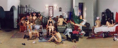 Wang Qingsong (Chinese, born 1966). China Mansion, 2004. Chromogenic photograph, 12 x 118 in. (30.5 x 299.7 cm). Brooklyn Museum, Alfred T. White Fund, 2004.103. © Wang Qingsong