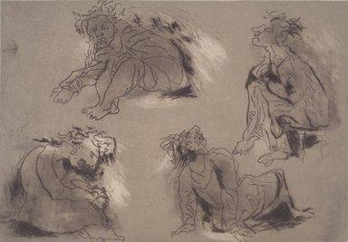 Miriam Beerman (American, born 1923). Homage A Marie, mid 20th-20th century. Etching, Sheet: 14 3/4 x 20 1/2 in. (37.5 x 52.1 cm). Brooklyn Museum, Gift of Sarah Faunce, 2004.104. © Miriam Beerman