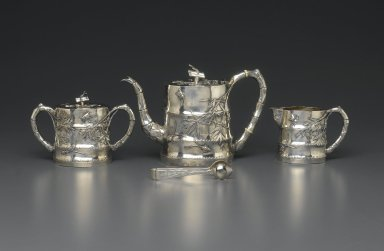 Tongs, Part of Tea Set for Export, 19th century. Silver, 12.3 x 3.5 cm. Brooklyn Museum, Gift of Dr. Alvin E. Friedman-Kien, 2004.112.17. Creative Commons-BY