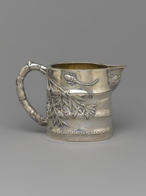 Creamer, Part of Tea Set for Export, 19th century. Silver, 8.6 x 13.4 cm. Brooklyn Museum, Gift of Dr. Alvin E. Friedman-Kien, 2004.112.16. Creative Commons-BY